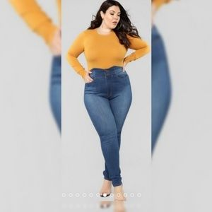 Fashion Nova Out The Door High Rise Jeans 1X/17